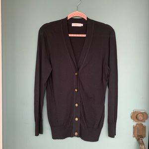 Tory Burch Black 100% Cotton Cardigan